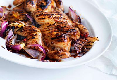 Piri piri chicken with salad