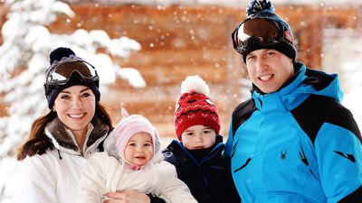 <p>The Duke and Duchess of Cambridge with Prince George and Princess Charlotte on a ski trip, 2016</p>