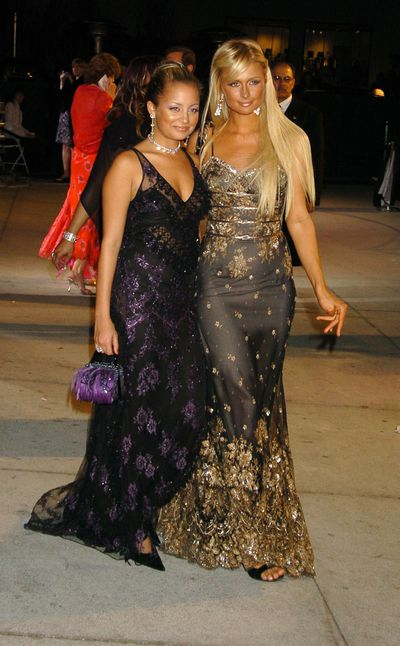 Paris Hilton and Nicole Richie at the 2004 Vanity Fair Oscars Party