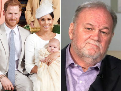 Thomas Markle Sr. was not invited to his grandson's christening.