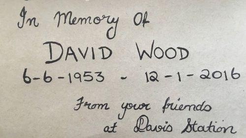 Captain Wood had been working with the Australian Antarctic Program at Davis station. (Davis Book via davidwarburtonwood.com)