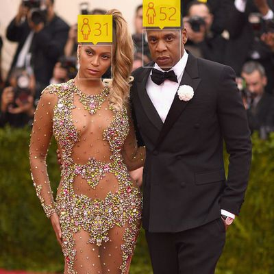 <p>Beyonce, 33, and Jay-Z, 45</p>