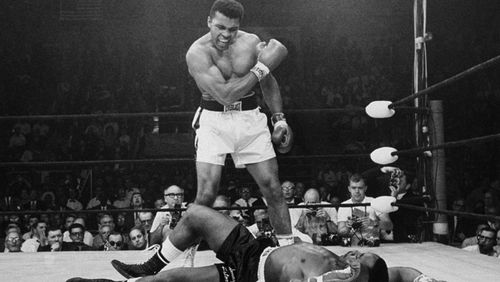 Ali floors Sonny Liston in an iconic moment of the 20th century. (AAP)