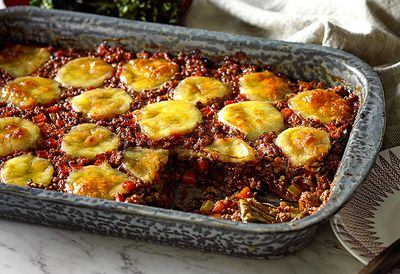 Veal and eggplant lasagne
