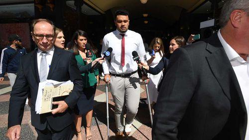 Zane Musgrove outside court.