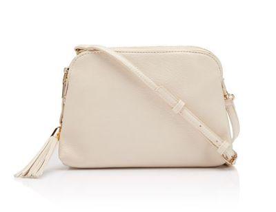 "<p><a href=""https://www.sportsgirl.com.au/accessories/bags/tennille-sling-bag-off-white-all"" target=""_blank"">Sportsgirl Tennille Sling Bag in Off White, $39.95</a></p>"