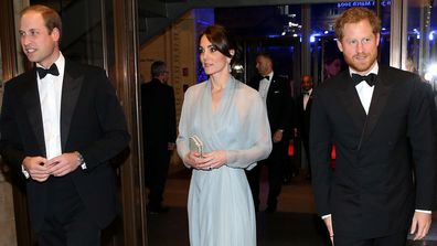 Prince William Kate Middleton Prince Harry Royal movie premiere