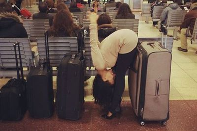 Bored at the airport? Here's one way you could pass the time... <br/>