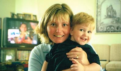Debbie Gaunt and her son