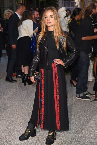 Lady Amelia Windsor wearing Burberry at the Burberry September 2016 show during London Fashion Week September, 2016
