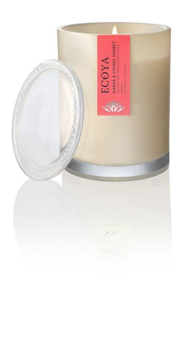 """<a href=""""https://www.ecoya.com/ecoya/shop/homefragrance/Candles/Jars.html"""">Ecoya Guava and Lychee Sorbet Metro Jar, $29.95, ecoya.com.au</a>"""