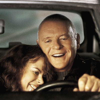 <p>Anthony Hopkins and Nicole Kidman in <em>The Human Stain</em> </p><p><strong>Age gap:</strong> 29 years, 6 months</p>