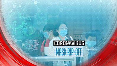 Coronavirus mask rip-off