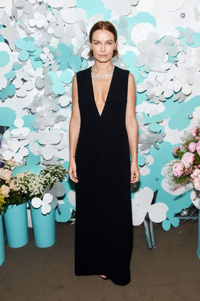 Lara Bingle wearing The Row at the Tiffany & Co. Paper Flowers event  launch in New York, May, 2018