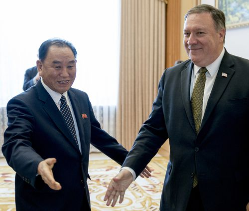 Despite that, a planned meeting between US Secretary of State Mike Pompeo and a key aide to Kim Jong Un was postponed.