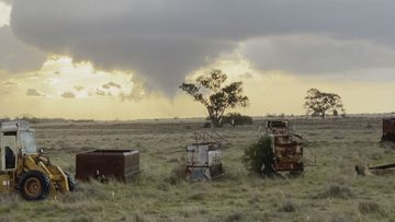 Five hours north, the town of Narrabri was hit by a slightly smaller tornado.