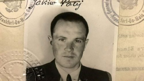 This 1949 photo provided by the U.S. Department of Justice shows a U.S. visa photo of Jakiw Palij, a former Nazi concentration camp guard who has been living in the Queens borough of New York.