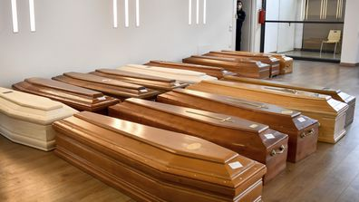 Coffins in Northern Italy