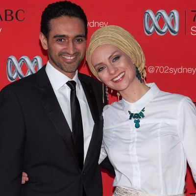 <p>Waleed Aly and Susan Carland</p> <p>Married in 2002.</p>