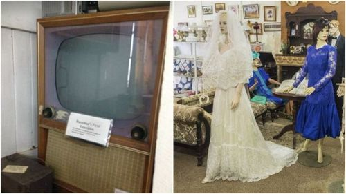 Busselton's fist ever television set and a number of old wedding dresses are believed to have been destroyed in the fire. (9NEWS)