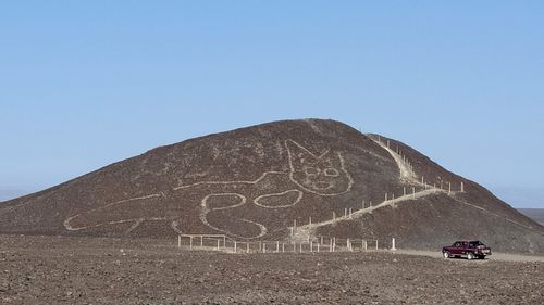 The geoglyphs are composed of over 10,000 lines, some of which measure 30 meters wide and stretch more than nine kilometres.