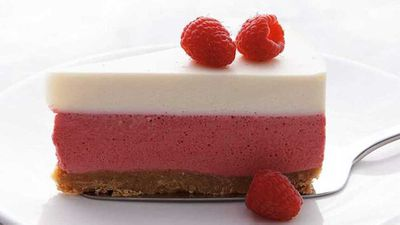 Neil Perry's raspberry and yogurt mousse cake