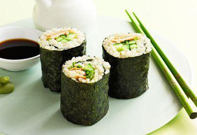 Chicken terayaki brown rice sushi
