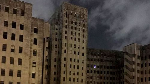Source discovered of creepy blue light in abandoned US hospital