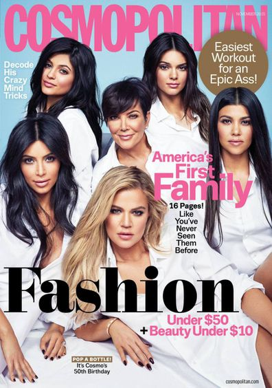 Kris Jenner, daughters, Kourtney Kardashian, Kim Kardashian, Khloé Kardashian, Kendall Jenner, Kylie Jenner, cover, Cosmopolitan