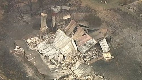 Another aerial shot of a Batlow property destroyed in the bushfire crisis.