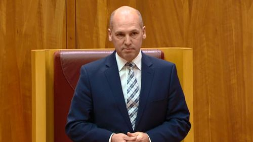 'With a heavy heart': Senator Parry will quit politics.
