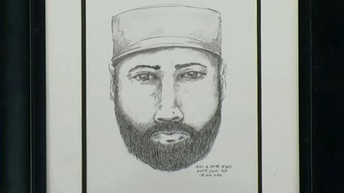 The sketch of a man Canadian police would like to speak to over the shooting deaths .