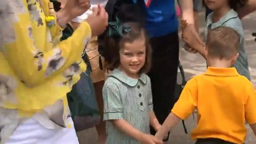 Thousands of youngsters had their first day of kindergarten in New South Wales today. (9NEWS)