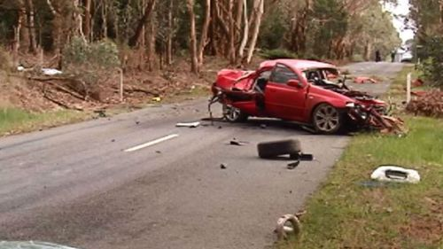 A second crash at Kerrie this morning brought the road toll to 162. (9NEWS)