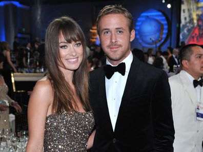 Olivia Wilde and Ryan Gosling  during the 68th Annual Golden Globe Awards held at the Beverly Hilton Hotel on January 16, 2011.