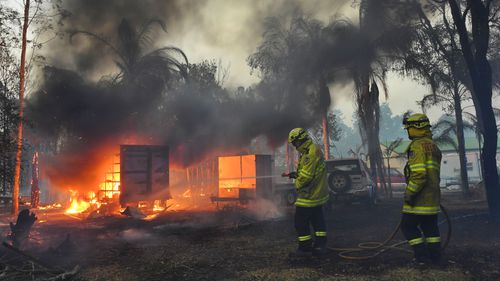 Buildings and property were lost as bushfires raced through Failford on the Mid North Coast. Hillville Fire.
