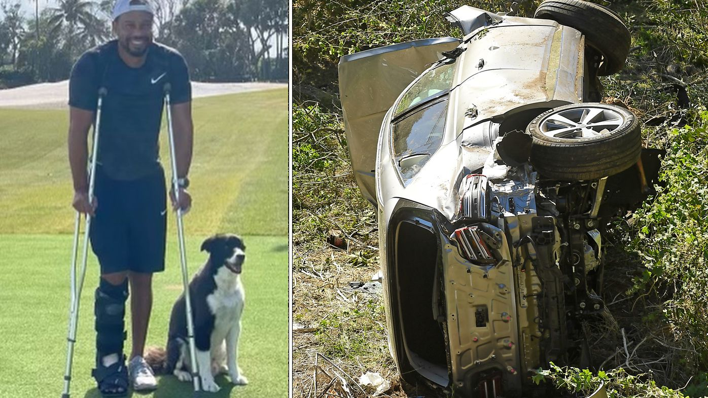 Tiger Woods recovers from a shocking car accident