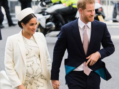 Meghan Markle and Prince Harry arrive at Westminster for Commonwealth Day March 2019