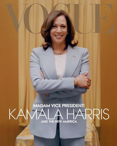 Kamala Harris blue suit Vogue cover
