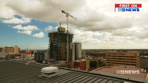 The race is on to be Adelaide's tallest building.