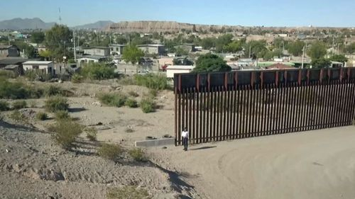 Only 15 minutes from the US city of El Paso, Donald Trump's border wall stops, making it an easy crossing for illegal immigrants.