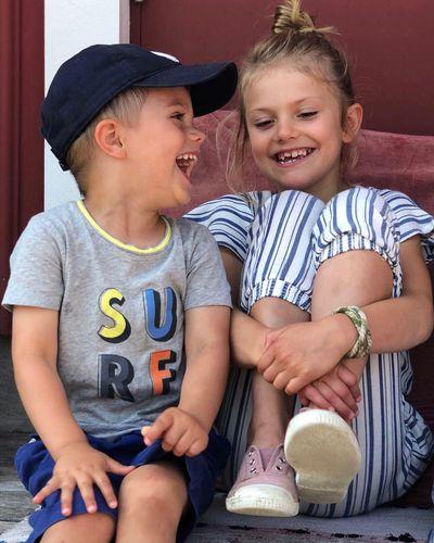 Princess Estelle and Prince Oscar on holidays, August 2019