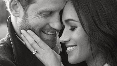"Harry and Meghan's engagement shoot<span style=""white-space: pre;"">	</span>"