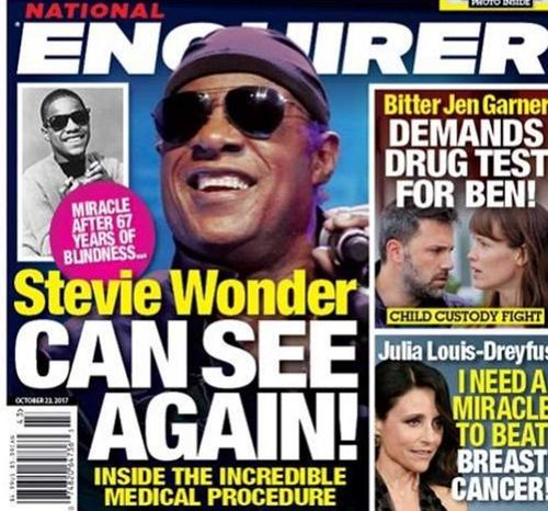 The National Enquirer is one of America's most lurid tabloid newspapers.