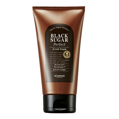 "<p><a href=""http://stylestory.com.au/products/skincare/skin-food-black-sugar-scrub-foam-160g/"" target=""_blank"" draggable=""false"">Skinfood Black Sugar Perfect Scrub Foam, $21.95.</a></p>"