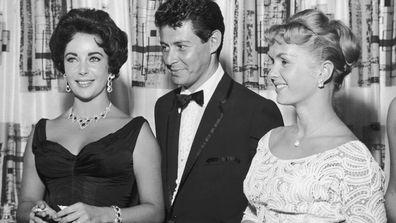 Elizabeth Taylor, Eddie Fisher and Debbie Reynolds
