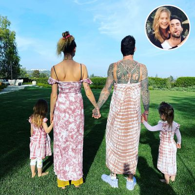 Adam Levine, Behati Prinsloo and daughters Dusty and Gio