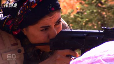 The YPJ fought with incredible will and tenacity but with often  old and obsolete weaponry.