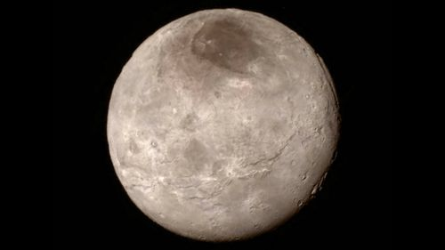 NASA also released a new photo of Pluto's moon Charon, which is named for the ferryman of the Greek underworld.