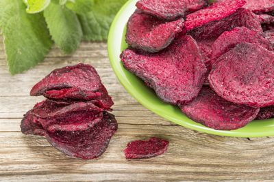 <strong>Beetroot chips (55 calories per serve)</strong>